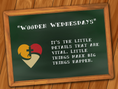 """Wooden Wednesdays"" and Other Lessons"