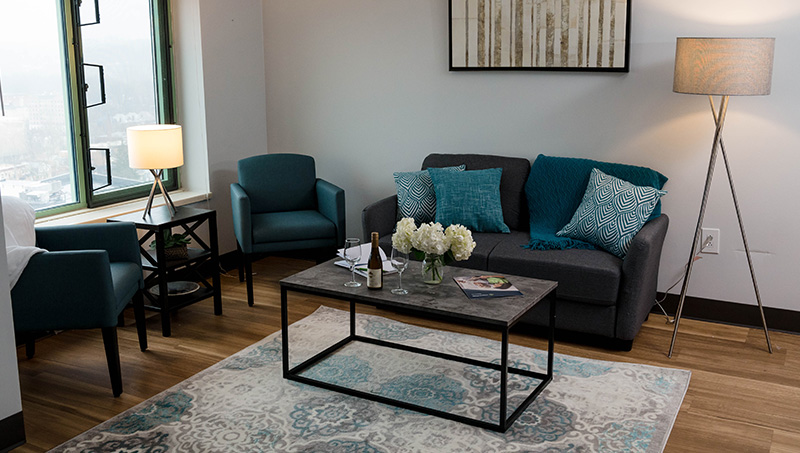 Newly remodeled resident living space.